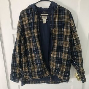 L.L. Bean Flannel Hooded Jacket